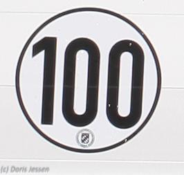 100-kmh-Plakette