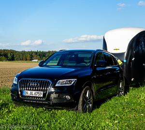 Pferdeanhänger-Zugfahrzeugtest Audi Q5 quattro