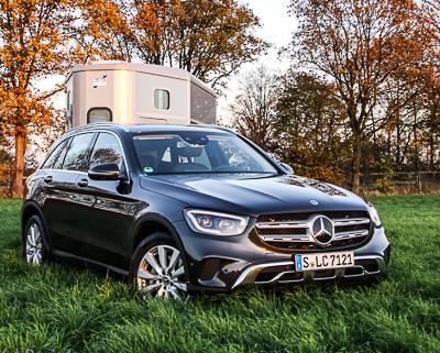 Pferdeanhänger-Zugfahrzeugtest Mercedes GLC